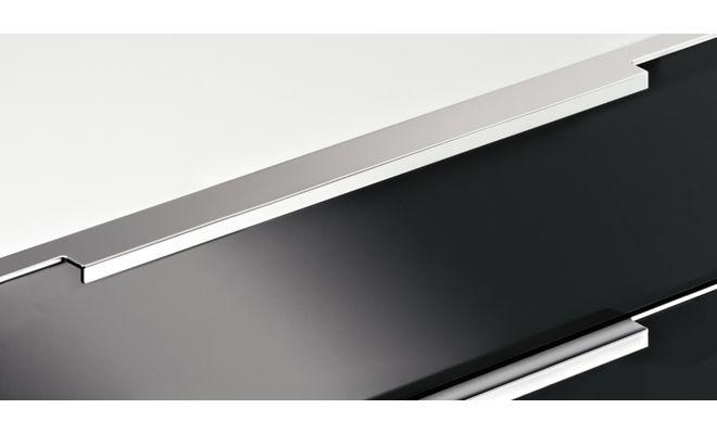 aluminium griffleisten k chenfront 24. Black Bedroom Furniture Sets. Home Design Ideas