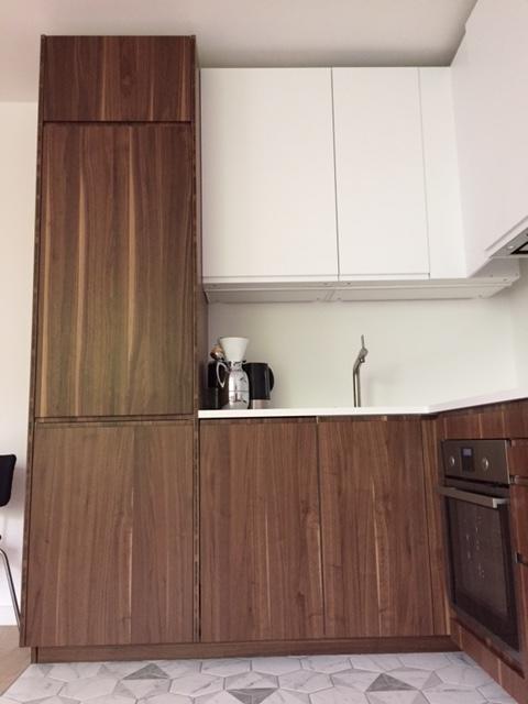 Fronten in Nußbaum massiv für Metod - Küchenfront 24