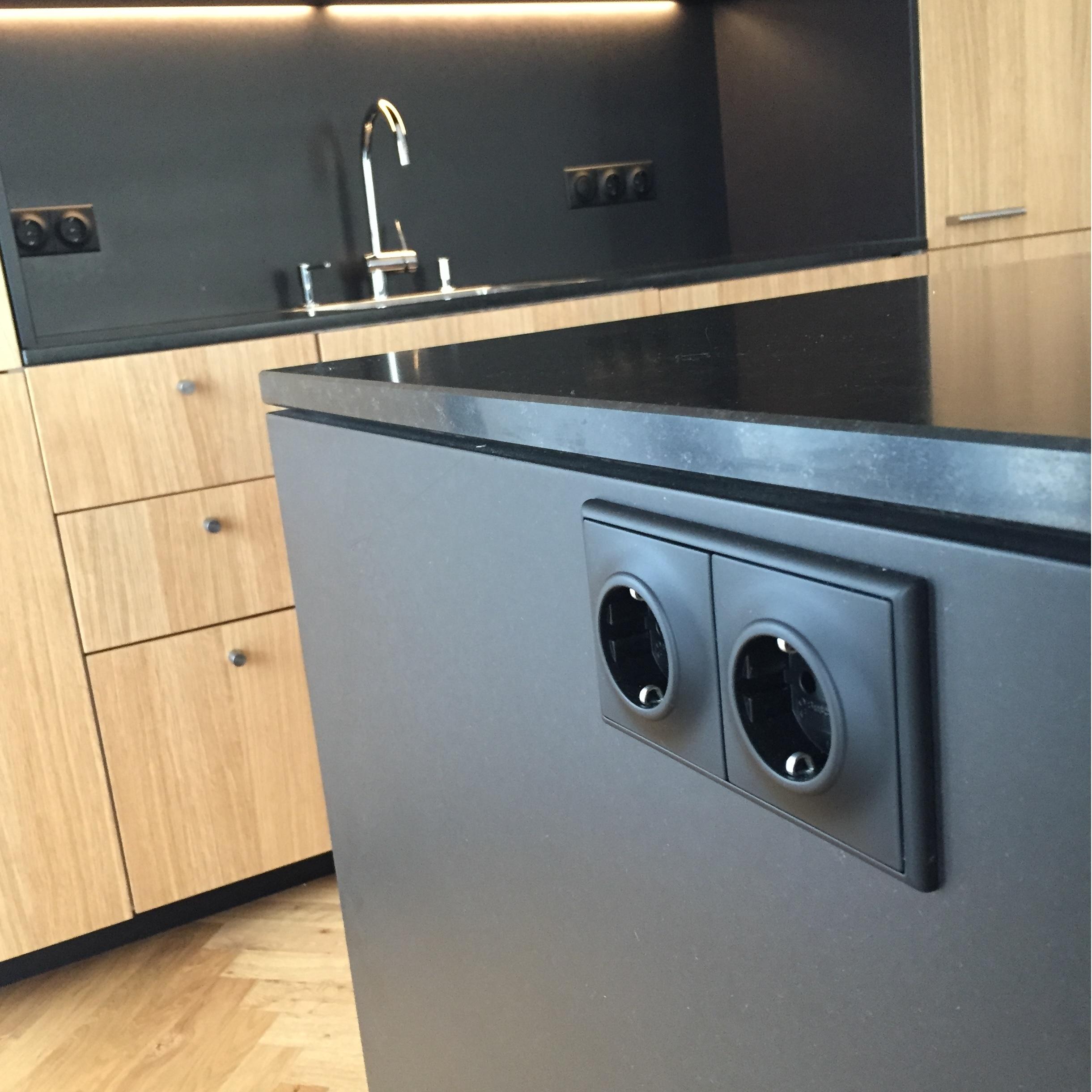 Küchenfront24 eiche natur trifft schwarzes mdf küchenfront 24