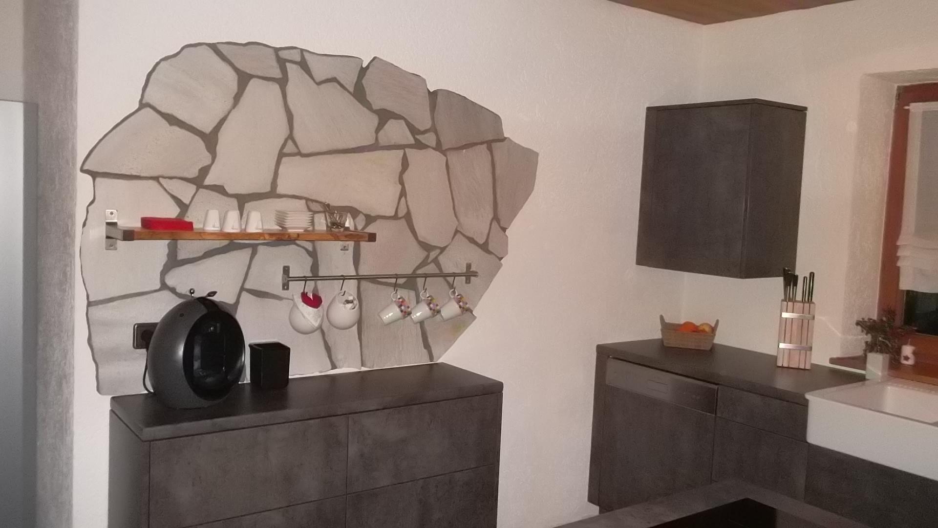 eigenbauk che in beton dunkel k chenfront 24. Black Bedroom Furniture Sets. Home Design Ideas
